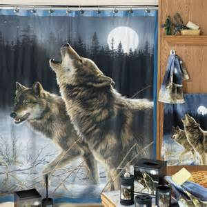 Master Bedroom Makeover On A Budget - howling wolf shower curtain at hayneedle