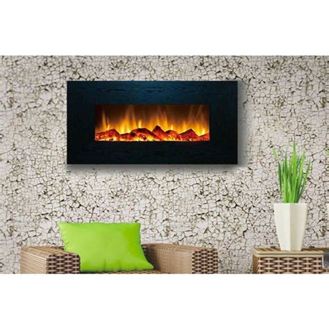 modern wall mounted fireplace touchstone 80001 onyx contemporary electric wall mounted