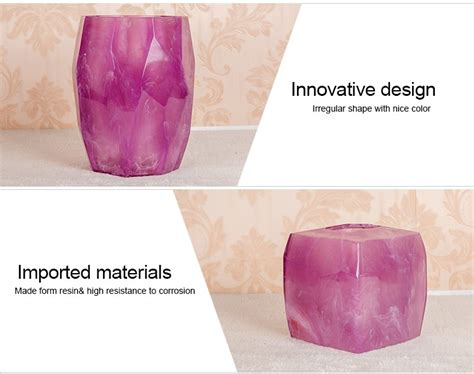 pink and purple bathroom accessories clear poly resin bath accessory bathroom set purple