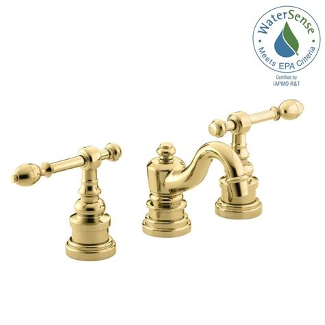 brass bathroom sink faucet kohler iv georges brass 8 in widespread 2 handle low arc