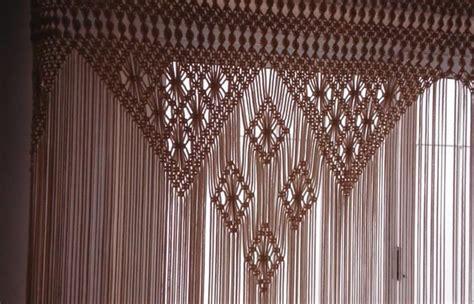 free macrame curtain patterns cortinas verdadera artesania en macrame anuncios