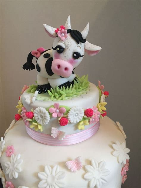 Cow Baby Shower by Cow Themed Baby Shower Cake Cakecentral