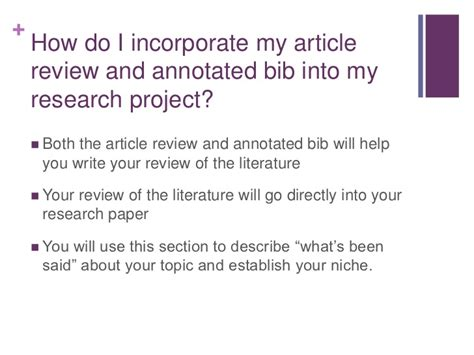 where does the thesis go in a research paper annotated bibliography does annotated bibliography go