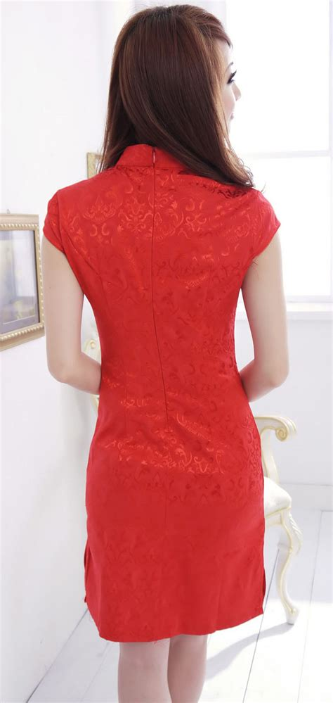 Dress Merah Imlek dress cheongsam merah imlek terbaru 2014 model terbaru