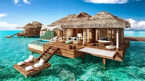 overwater bungalow these the water bungalows are coming to the caribbean