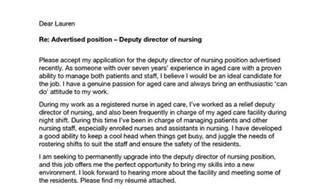manager cover letter nursing sle cover