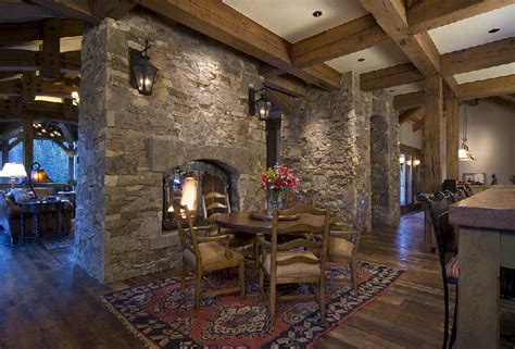 Fireplace Between Dining Room And Living Room Colorado Residence 2 Sided Fireplace Between The