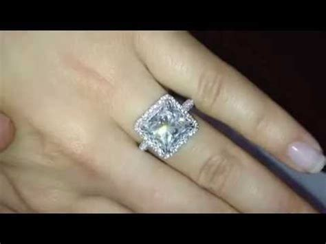 4 carat princess cut engagement ring with 1