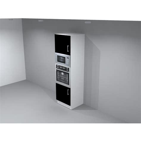 agréable Meuble Pour Four Encastrable Ikea #3: armoire-colonne-pour-four-et-micro-ondes-encastrable-avec-2-portes-largeur-60-faro.jpg