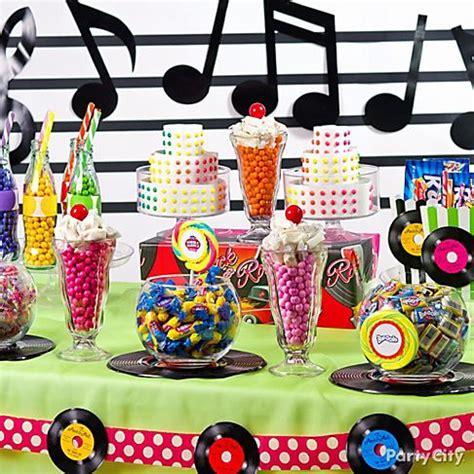 50s themed decorations buffet ideas 50s theme city