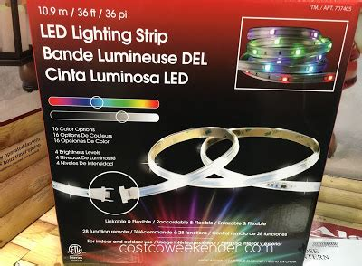 costco led lights with remote dsi led lighting costco weekender