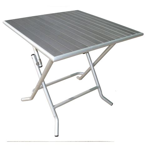 table de jardin carree table de jardin naterial boston carr 233 e gris 4 personnes leroy merlin