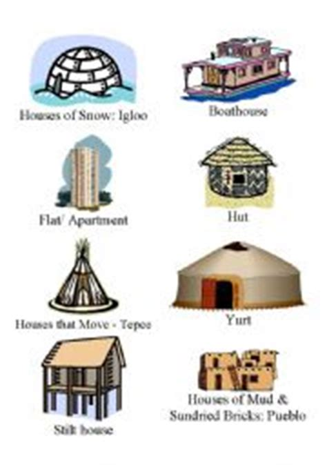 How To Find House Plans Online by Esl Kids Worksheets Homes Around The World