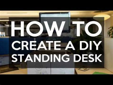 create a standing desk how to create a standing desk