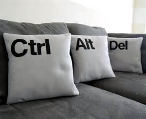 ctrl alt three pillow set geeks need pillows