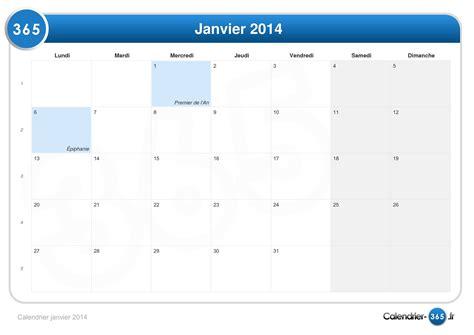 Calendrier 6 Janvier Calendrier Janvier 2014