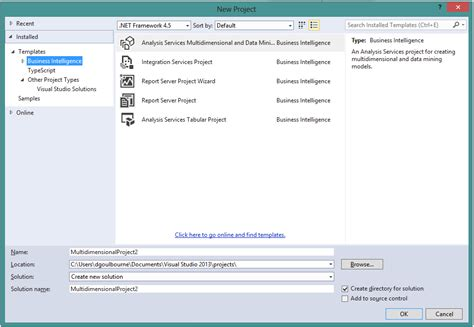 template project missing sql server ssdt 2013 new database project missing