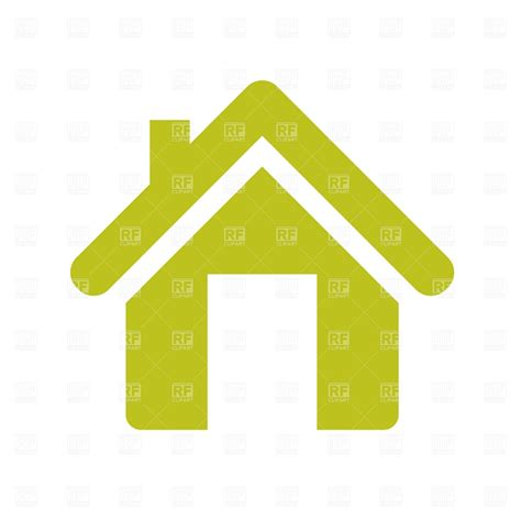 home icon house with flue 471 signs symbols maps