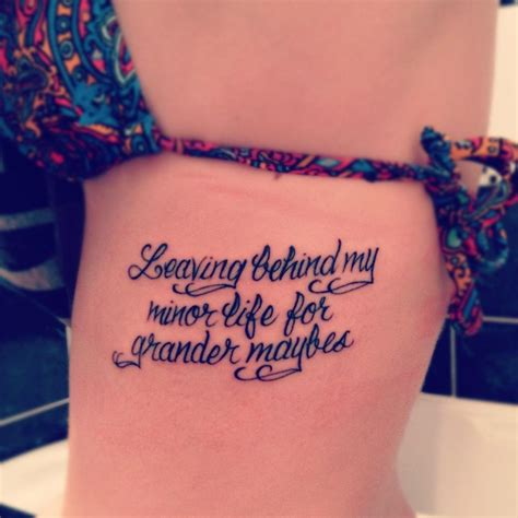 side quote tattoos quote tattoos designs ideas and meaning tattoos for you