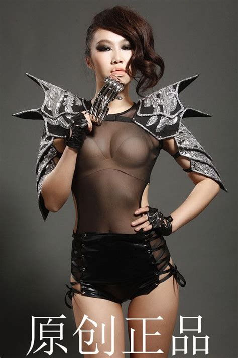 hot female metal singers free shipping 2014 new sexy costumes performance dress