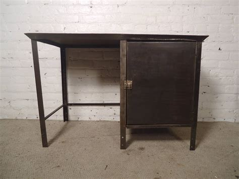 industrial metal desk with storage for sale at 1stdibs