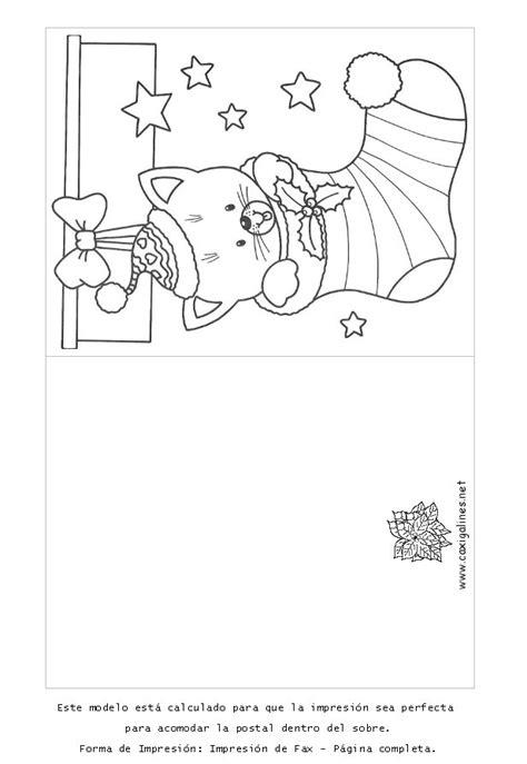 Juegos De Tarjetas De Navidad Para Colorear Imprimir Y Pintar | tarjetas de navidad para colorear