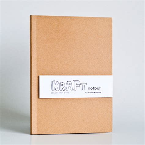 Craft Paper Notebook - kraft paper notebook in a5 size