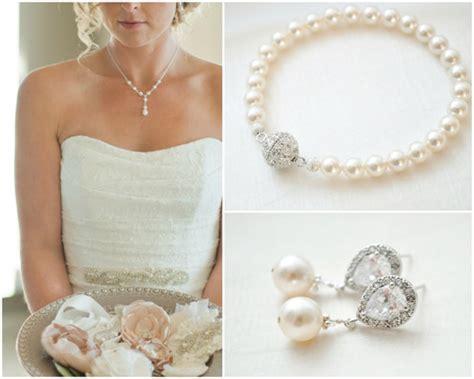schlichter brautschmuck bridal jewellery set pearl wedding jewellery set