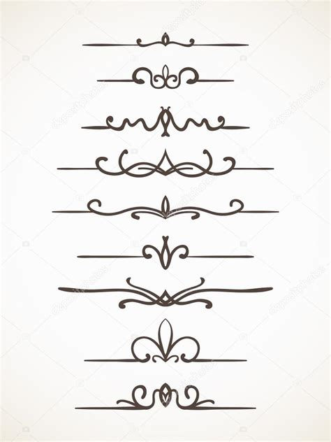 Decorative Line Borders by Decorative Lines Borders Set Stock Vector