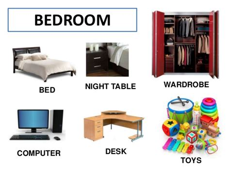 bedroom furniture vocabulary the house vocabulary