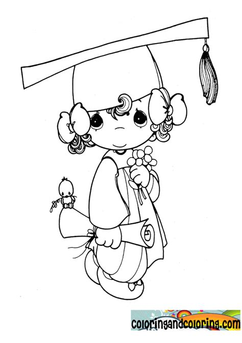 graduation girl coloring page precious moments graduation coloring pages time to