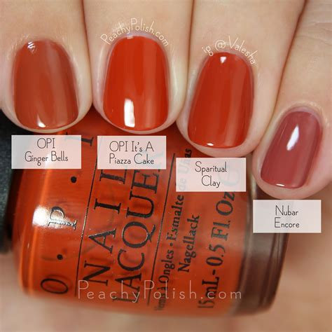opi fall colors opi fall 2015 venice collection comparisons peachy