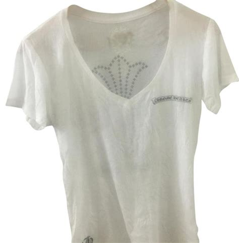 chrome hearts t shirt chrome hearts v neck t shirt white