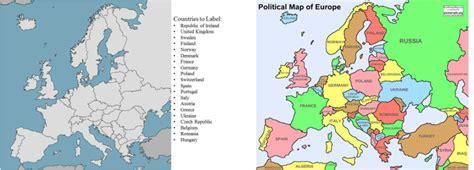 map of modern europe thefreebiedepot