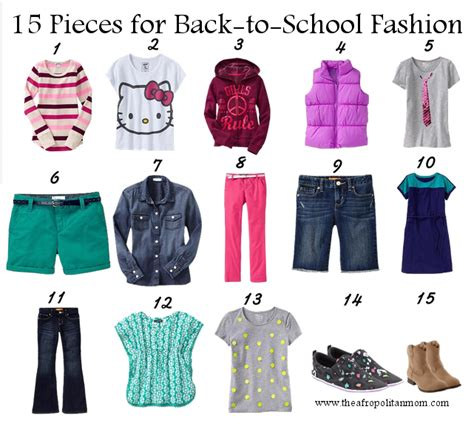 back to school fashion for 15 items 40 looks