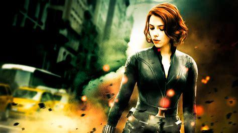 wallpaper black widow avengers 8694 scarlett johansson avengers widescreen wallpaper