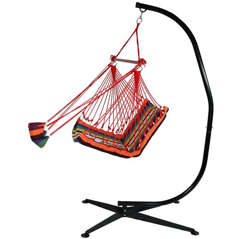 big w swing chair hanging soft cushioned hammock chair w footrest