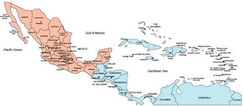 map of mexico central america blank map of south america and mexico images