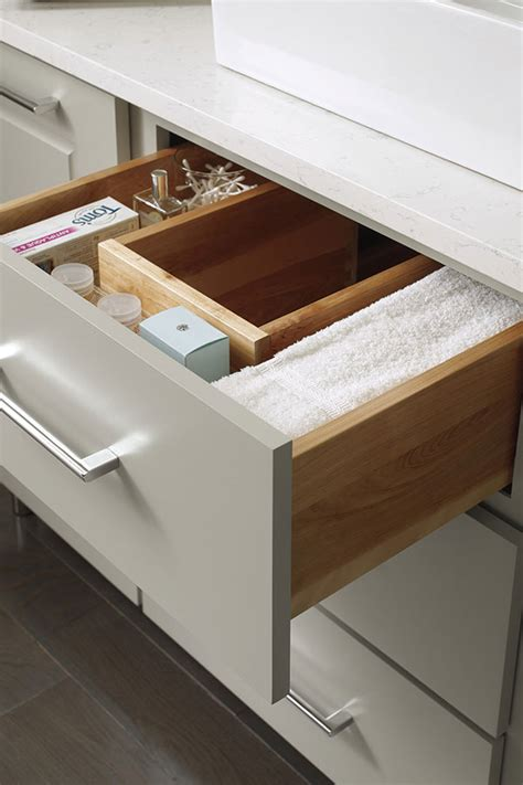 vanity  shaped drawer decora cabinetry