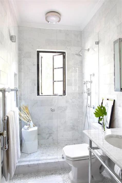 shower  french windows transitional bathroom