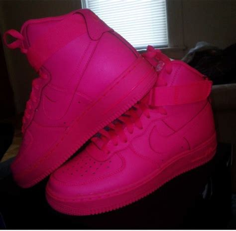 Nike One High Pink shoes nike nike high tops nike air 1 all pink