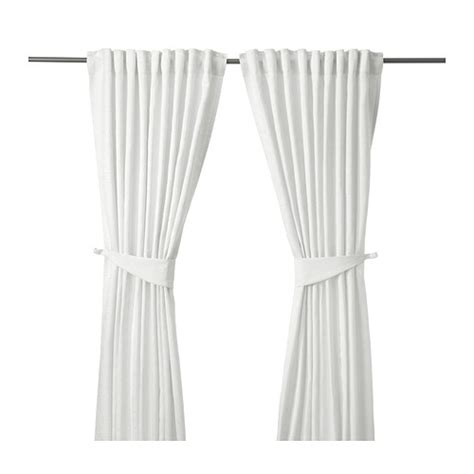 white tie back curtains blekviva curtains with tie backs 1 pair ikea