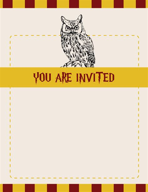 harry potter templates harry potter invitations theruntime
