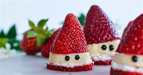 strawberry santas a healthy christmas treat