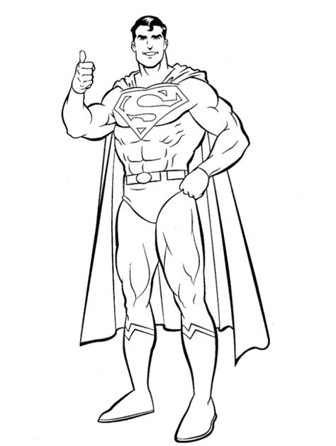 14 kids coloring pages superman print color craft