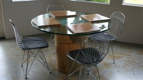 pedestal bases for glass top dining tables with sleek