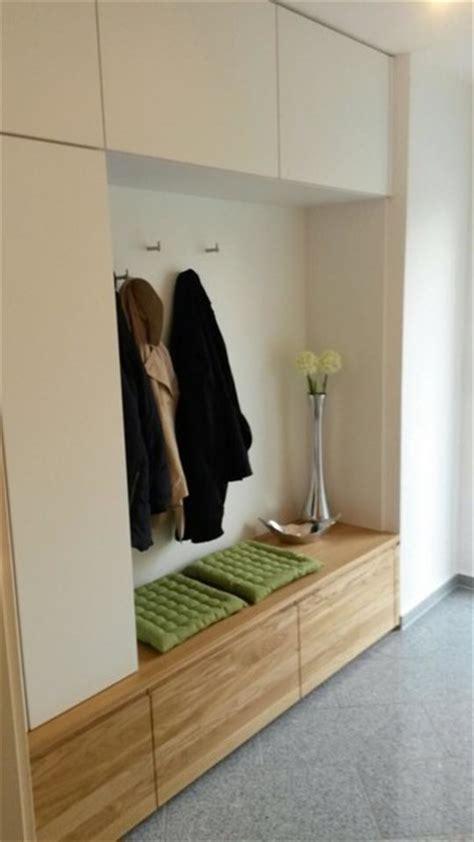 garderobe in eiche massiv und wei 223 matt modern flur