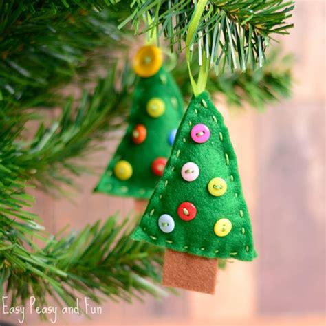 tree felt ornaments felt tree ornament easy peasy and