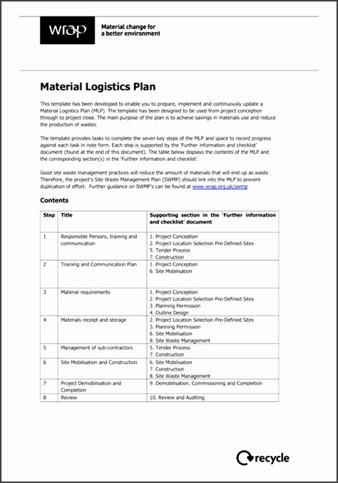 Waste Management Plan Template Victoria Archives Sletemplatess Sletemplatess Waste Management Program Template