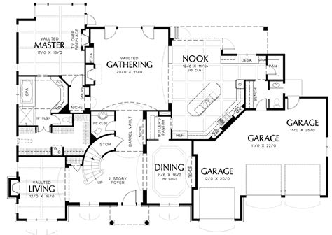 dual staircase house plans staircase southern house plan stairs plans house plans 40065